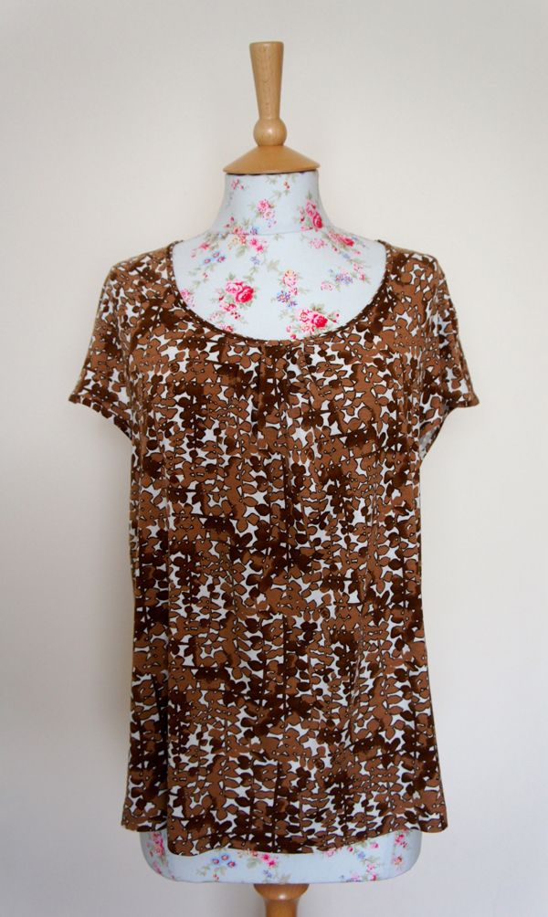 brown Kohn Kaldor printed Viscose and Elastane Jersey tunic