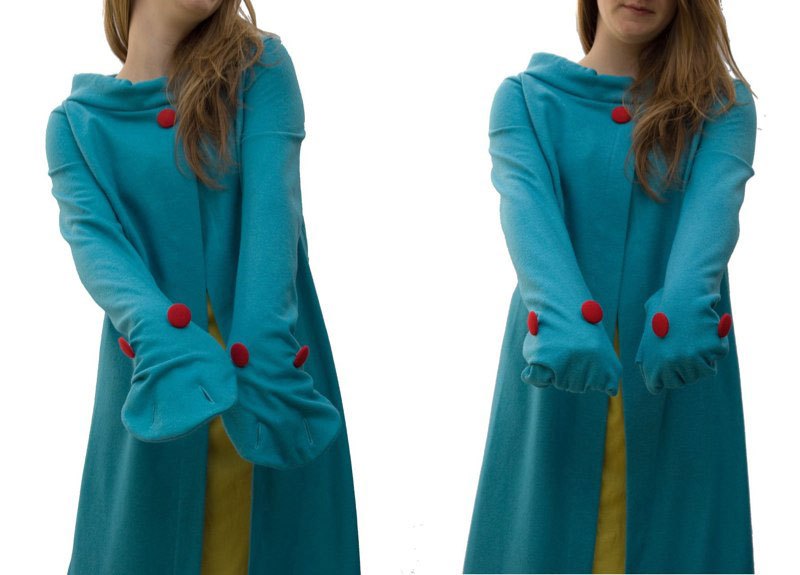 monster glove cardigan in felted wool jersey