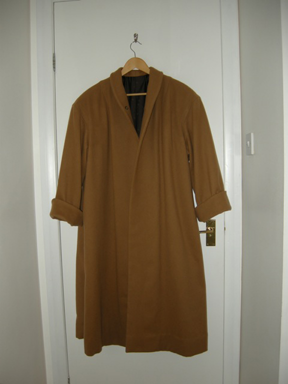 Brown Wool Melton And Tweed Coat Stone Fabrics And