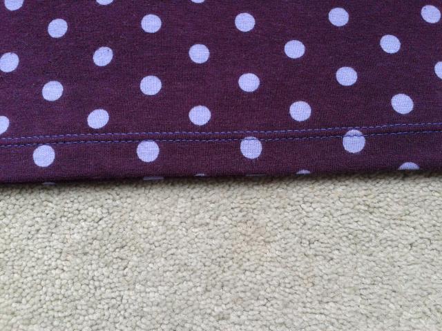 spotty cotton jersey t-shirt twin stitching detail