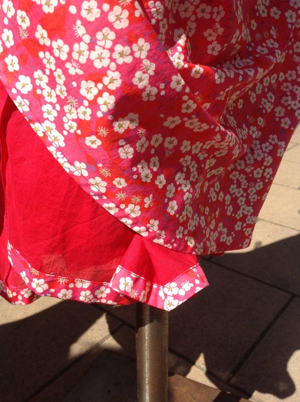 Liberty Tana Lawn Cotton Print Vintage Vogue Dress Stone