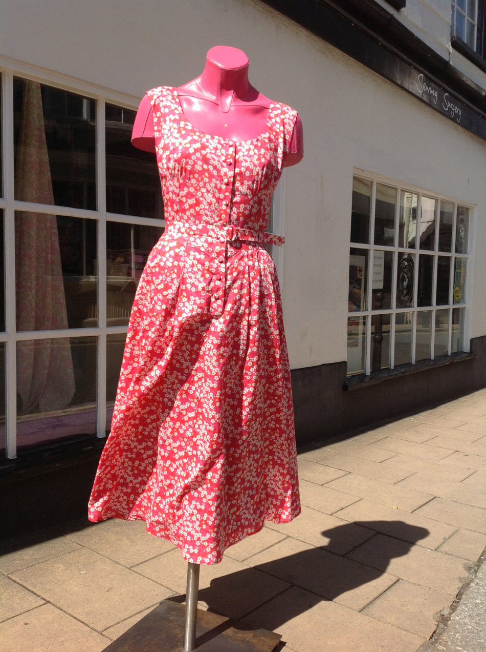 liberty lawn vintage Vogue dress