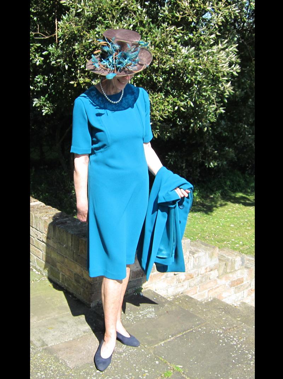 triple crepe panelled dress