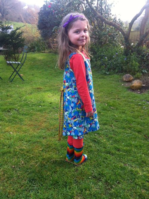 Liberty Lantana cotton and Wool reversible dress