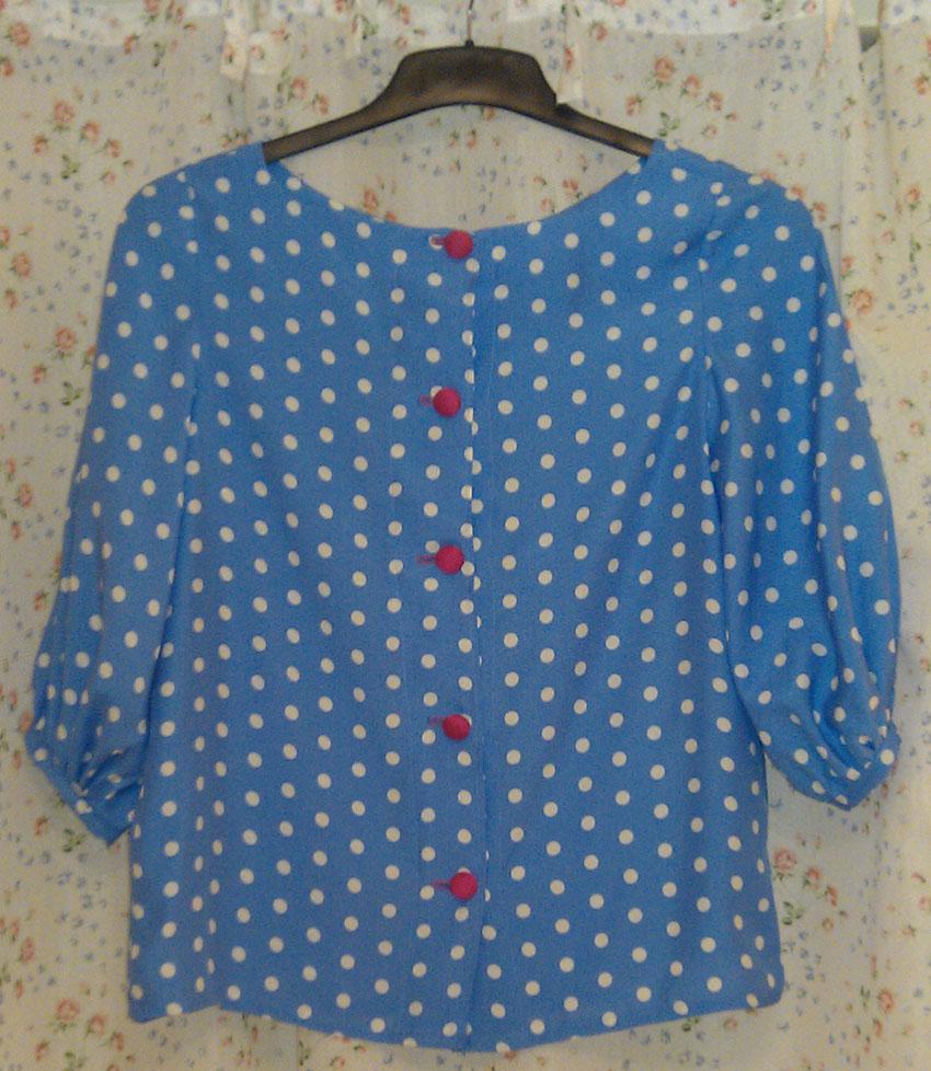 Spotty Viscose Mathilde blouse back