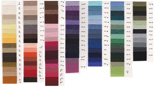 Venenzia lining colour chart