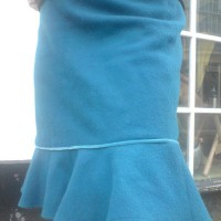wool melton frill skirt