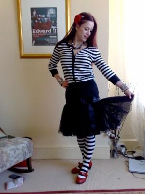 spotty tulle frill skirt