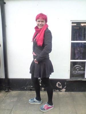 cotton herringbone suiting skirt and jacket