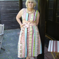 Tina Givens printed cotton flared dress
