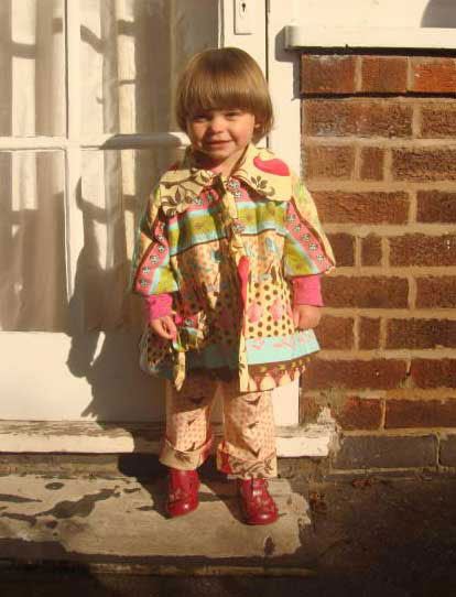 tina givens birdy printed cotton coat and trousers