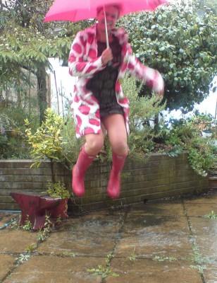 plasticised cotton strawberry print marimekko raincoat