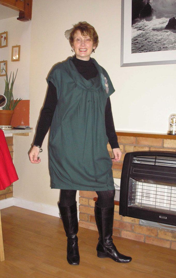 wool challis tunic dress