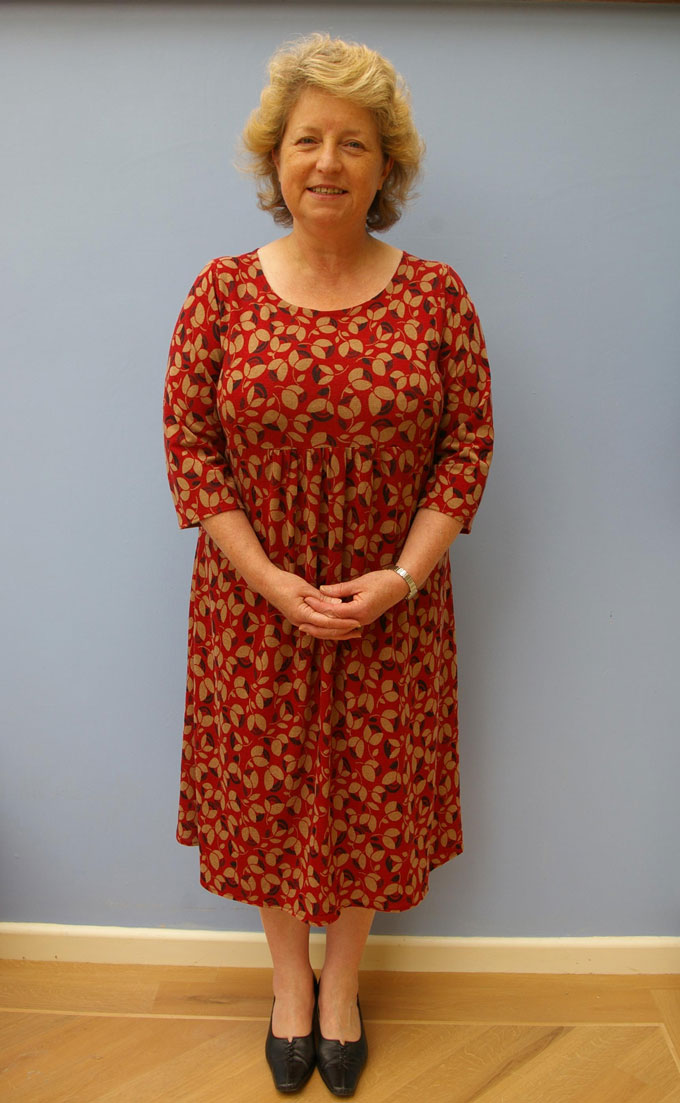 printed acrylic jersey dress