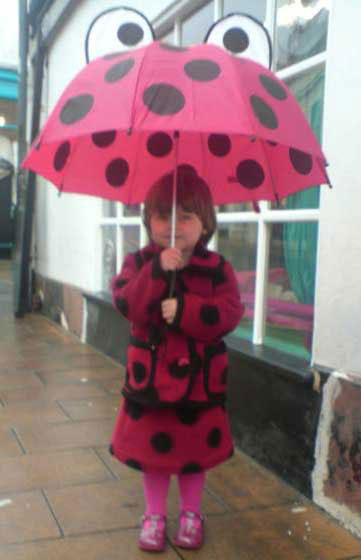 ladybird spot boiled wool girl's skirt and jacket