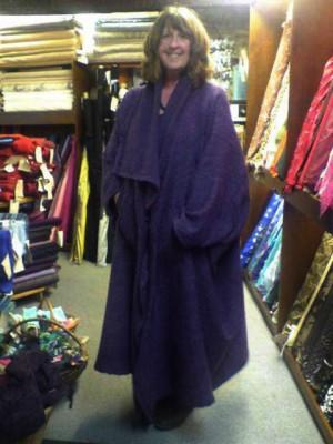 aubergine wool coating issey miyake coat