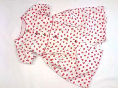 cherry print cotton dress