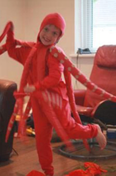 red jersey squid costume