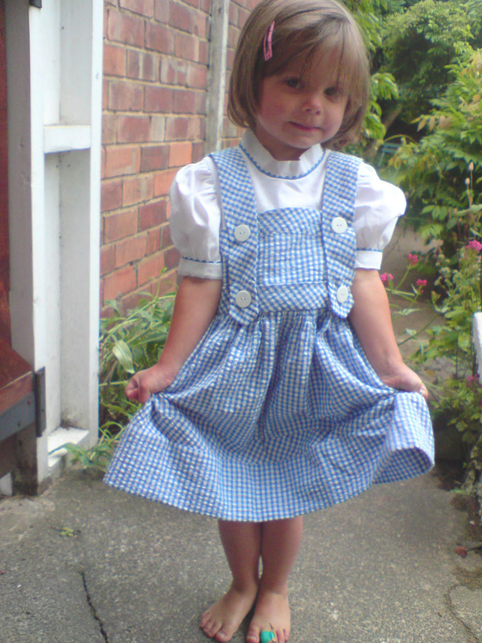 blue and white gingham dorothy dress