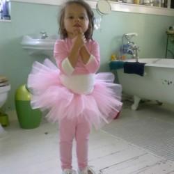 ballerina tutu and jersey wrap cardigan