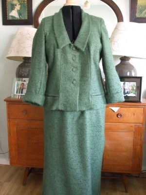 wool and mohair skirt suit