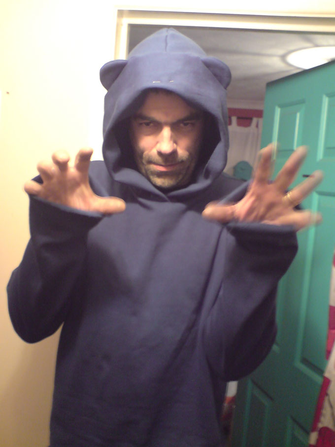 cotton sweatshirting hoody with ears