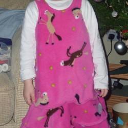 horsey print fleece dress