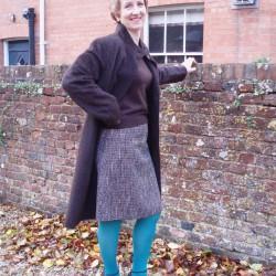 wool tweed skirt