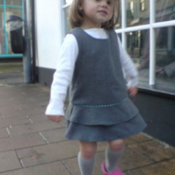 grey school pinafore dress