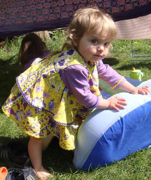 yellow printed cotton lawn rara dress