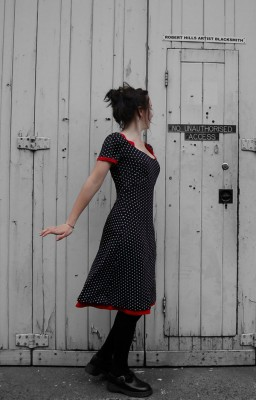 reversible viscose and elastane dress
