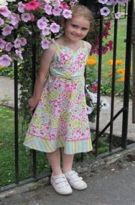 contrast trim cotton child's dress