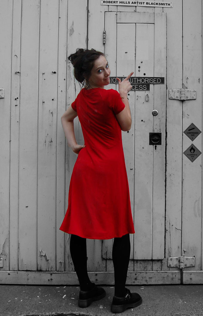 reversible viscose and elastane dress