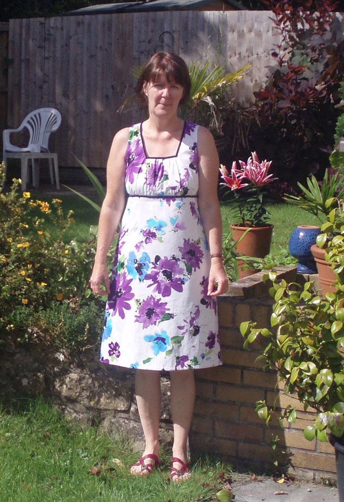 stretch cotton sateen empire/ a-line dress