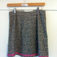 ditsy floral needlecord skirt