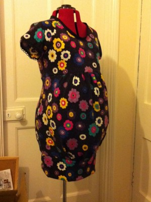 floral print wool mix maternity jumper dress