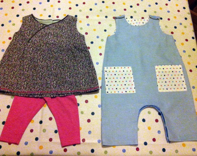 cotton corduroy romper and dress and leggings