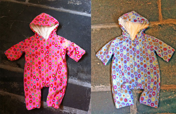free spirit printed Fleece baby onesies