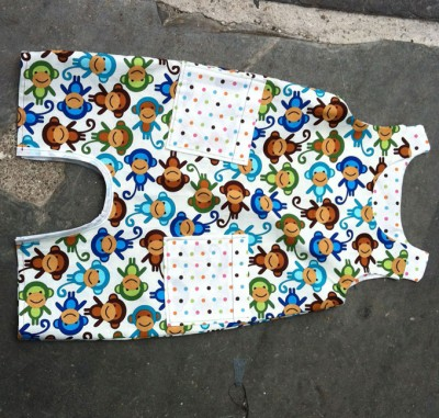 Anne Kelle printed cotton romper