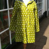 spotty laminated cotton raincoat