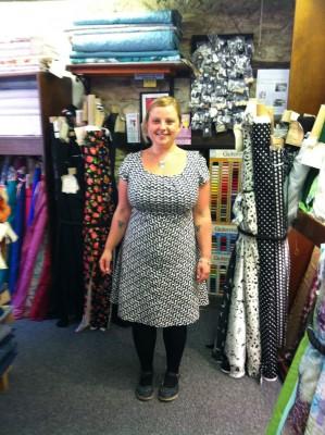 Amy Butler print cotton Burda bias skirt dress