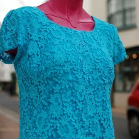 dyed cotton guipure lace top