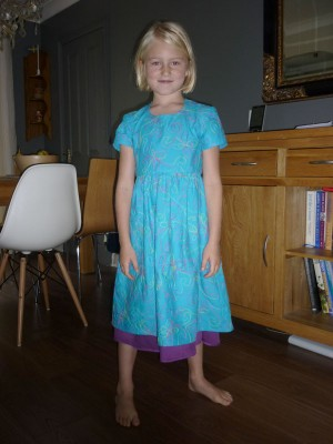embroidered cotton girl's dress