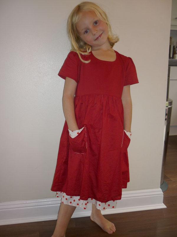red spotty cotton dress
