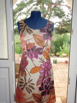 silk and cotton mix shift dress