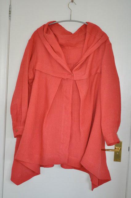 coral linen oversized shirt