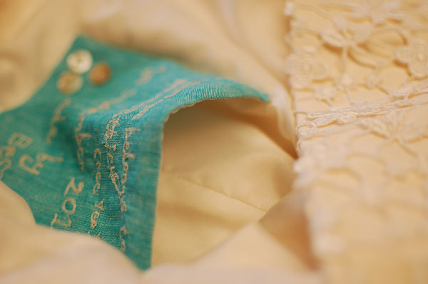 guipure lace wedding dress pocket detail