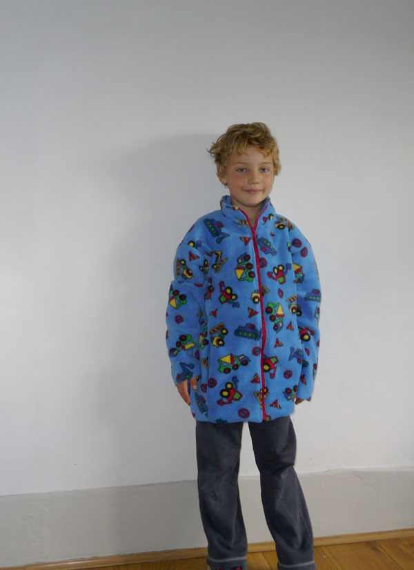 digger printed fleece jacket
