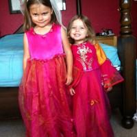 Indian princess organza and satin dresses