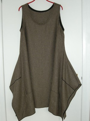 wool check tweed tunic dress